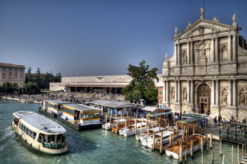 Ferrovia Vaporetto stop, Venice.