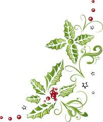 Weihnachten, Advent, Stechpalme, Ranke, Ilix