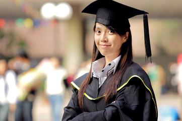 asian girl graduation