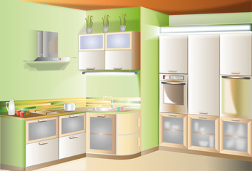 Kitchen touch small room