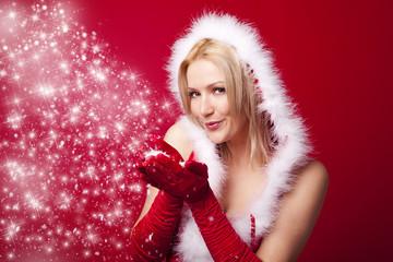 blonder engel weihnachten
