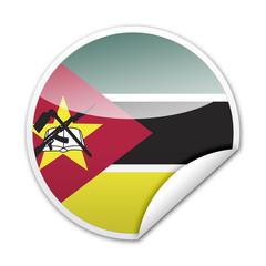 Pegatina bandera Mozambique con reborde