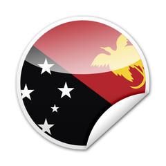 Pegatina bandera Papua Nueva Guinea con reborde