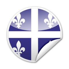 Pegatina bandera Quebec con reborde