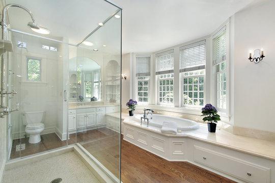White luxury master bath