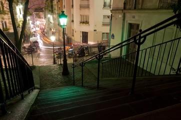Escalier sur la Butte Montmartre - Paris