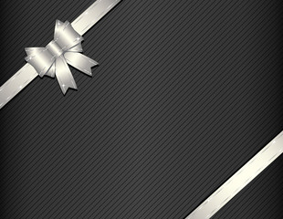 Silver gift ribbon with gift paper