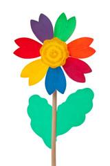 Buntes Blumen Windrad