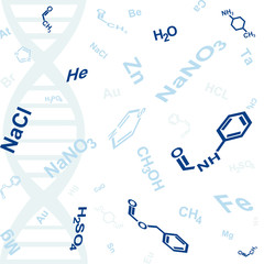 abstract background with chemical formula