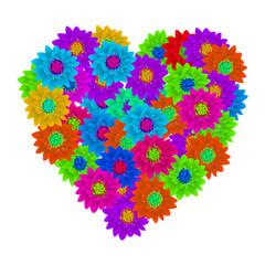 Hart shape floral bouquet