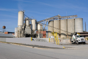 Truck Filling at Cement Factory