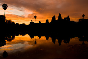 Yellow Angkor Wat Sunrise