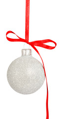 Christmas decoration isolated toy ball