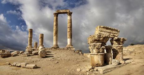 The Citadel in Amman in Jordan.