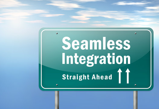 "Highway Signpost ""Seamless Integration - Straight Ahead"""