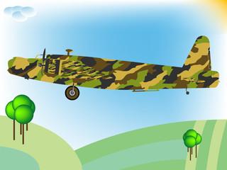 Foto op Canvas Militair old military airplane