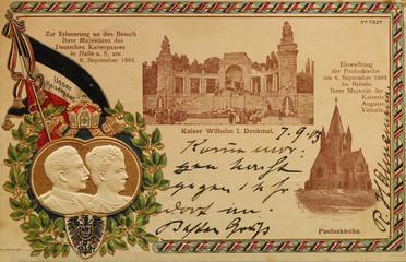Postkarte deutsches Kaiserpaar von 1903