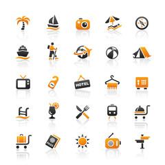 Orange Black Web Icons