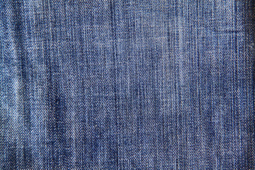 Texture of blue jeans as a background