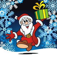 Crystal Xmas Santa