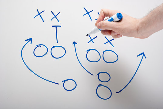 game plan with hand