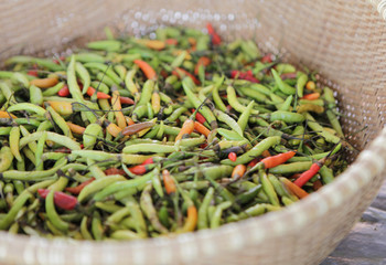 miniature hot peppers