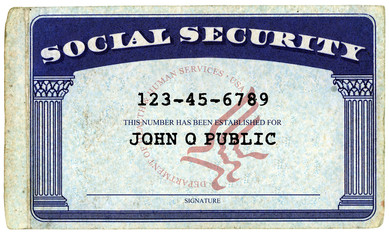 Generic American Social Security Card