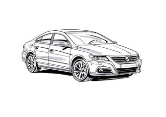 Skizze Auto Limousine Sedan