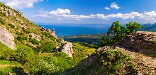 Colorful summer landscape in the Crimea