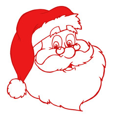 Red Classic Santa Claus Head