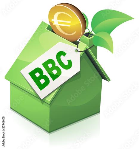 Investir dans une maison bbc reflet fichier vectoriel libre de - Investir dans une maison ...