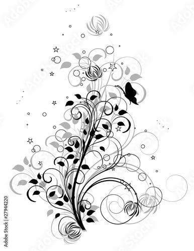arabesque papillon gris et noir fichier vectoriel libre de droits sur la banque d 39 images. Black Bedroom Furniture Sets. Home Design Ideas