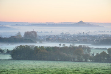 Glastonbury Moor Fog