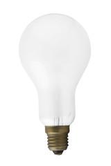 Single light bulb isolated