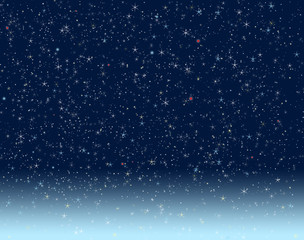 Night Sky dotted with stars