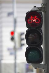 Fahrradampel Rot