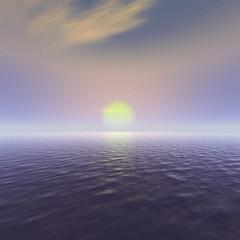 Sonne über dem Ozean