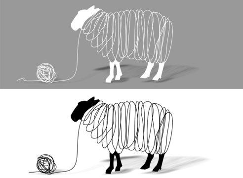 schwarzweiß Schafe