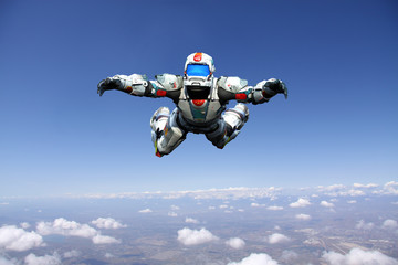 astronaut hero skydiver freestyle