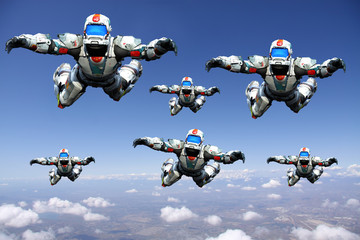 astronaut hero skydiver gang