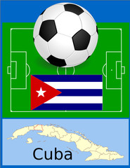 Cuba soccer world fifa flag map