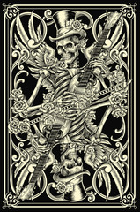 Classic Skeleton Playing Card