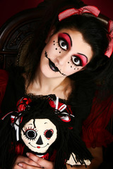 Goth Doll Costume Woman