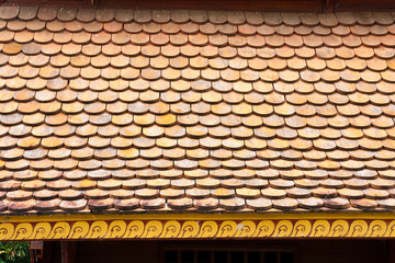Temple Rooftop Tiles, Thailand