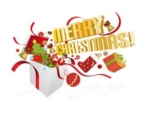 Merry christmas! Vector illustration.