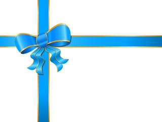 blau-goldene Geschenkschleife