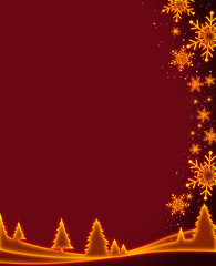 gold christmas background concept
