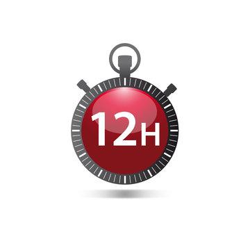 logo chronomètre, 12h
