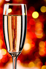 Champagne on abstract background