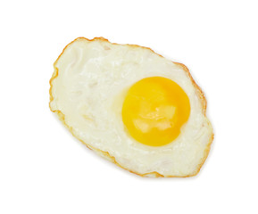 Sunny side up, isolated on white